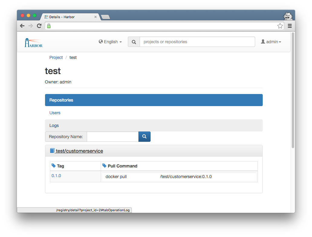 Deploying a private, secured Docker Registry within 15